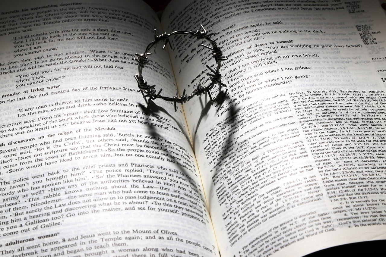 Bible and Barbed Wire Crown